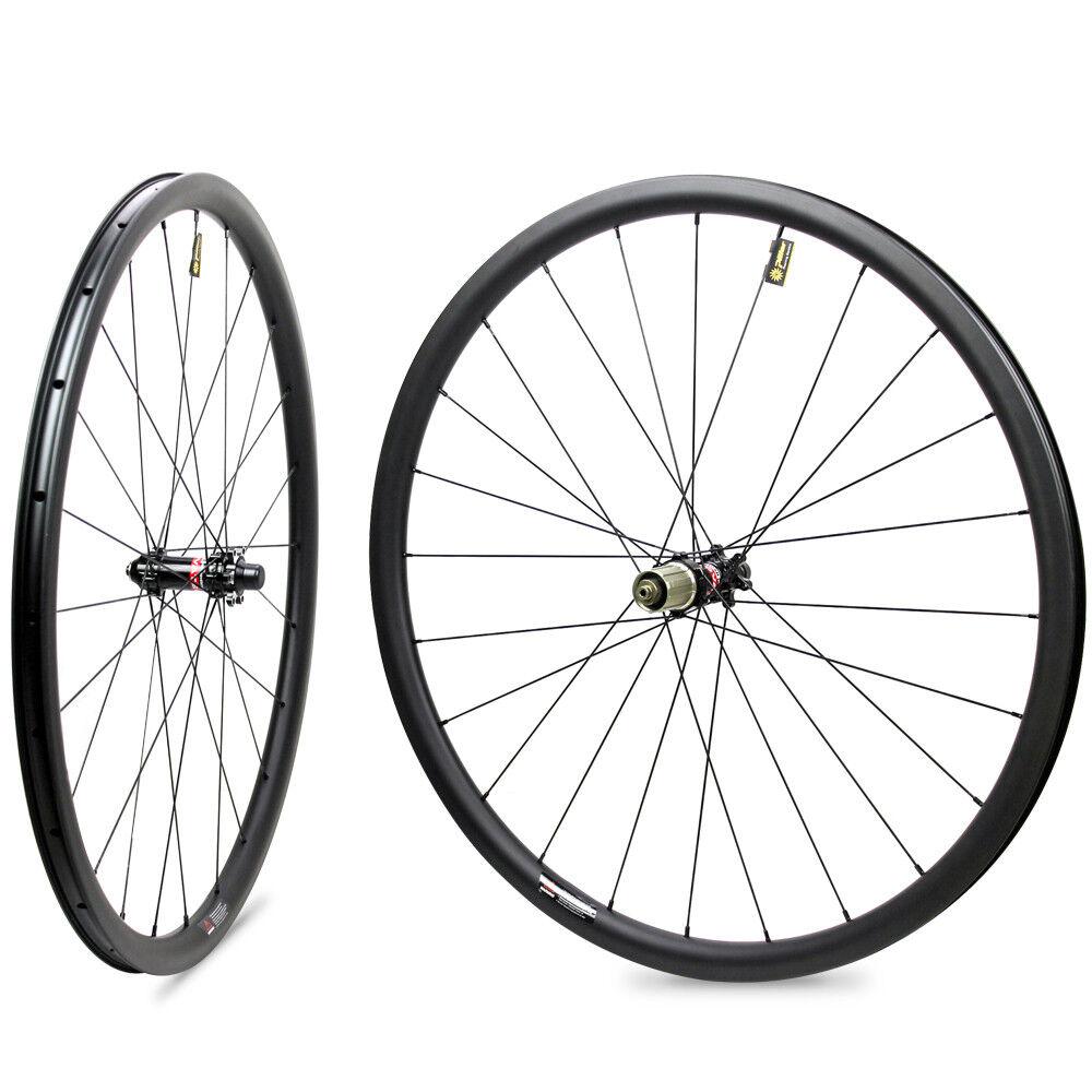 29er  Disc Brake Gravel Bike Wheelset mtb carbon Wheels 24mm width color nipple  most preferential