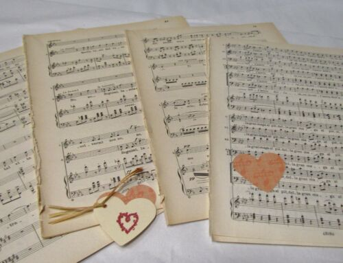 Decoupage Art Projects 20 sheets Vintage Manuscript Music Paper Crafting,