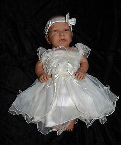 3 Tlg Baby Set Kleid Baby Festkleid Taufe Hochzeit Höschen