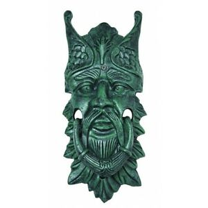 Large 13 h door knocker cast iron northwind green man face door knocker verdi ebay - Greenman door knocker ...