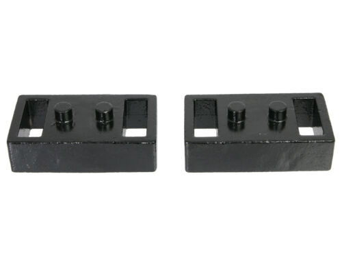 "Rear Lower Leveling Kit for 04-14 Ford F1501.5/"" Lift Black Block Steel Spacer"