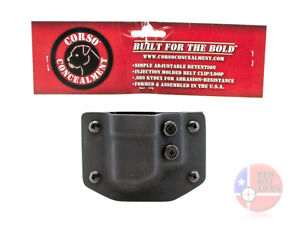 NEW-Corso-Concealment-Kydex-Shield-OWB-Mag-Magazine-Carrier-Pouch-Free-Ship