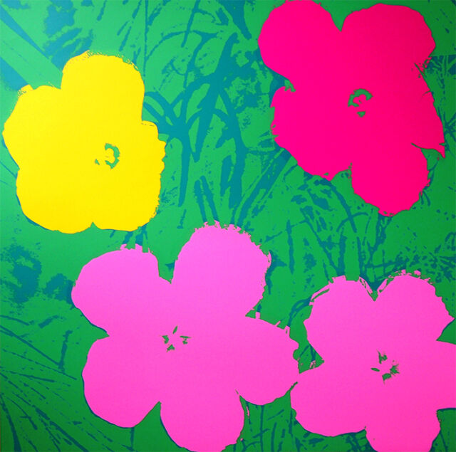 ANDY WARHOL Pop Art - Sunday B Morning - Flowers 11.68 - Screen print + COA