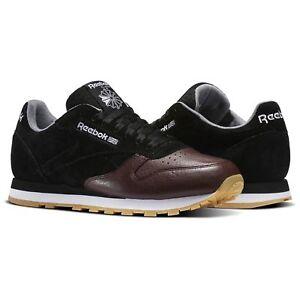 34422c7e56e0 Reebok Classic Leather LR Men s Running Training Shoes Black Burnt ...