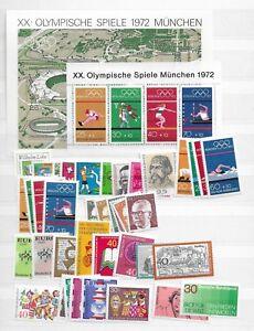1972-MNH-yearset-jaargang-Bundespost-Bund-BRD-germany-Postfris