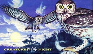 Australia-Post-Design-Set-MNH-Decimal-1997-Creatures-of-the-Night