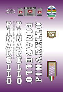 Pinarello Asolo Frame Decal Set Black//White Contour