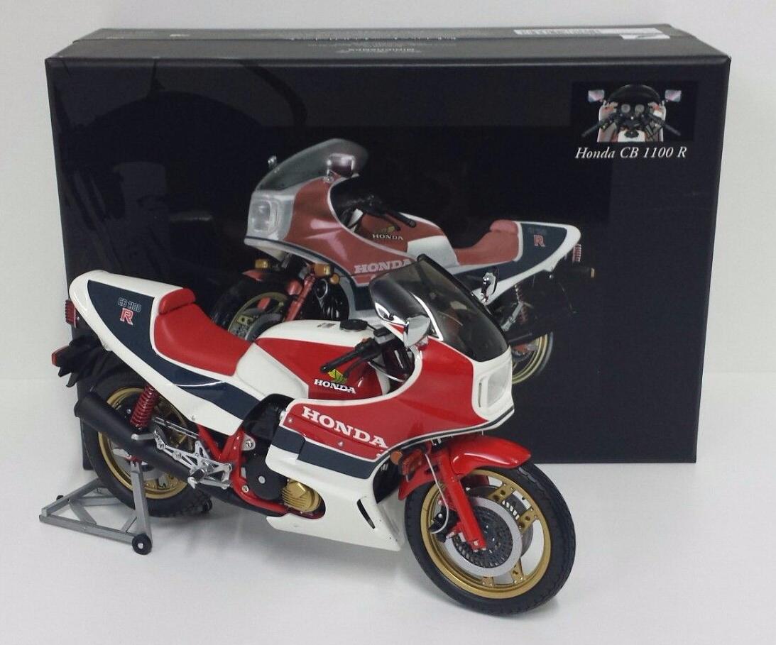 MINICHAMPS 1 12 MODÈLE MOTO BIKE HONDA CB1100R RCII 1982 BLANC ROUGE BLEU NEW