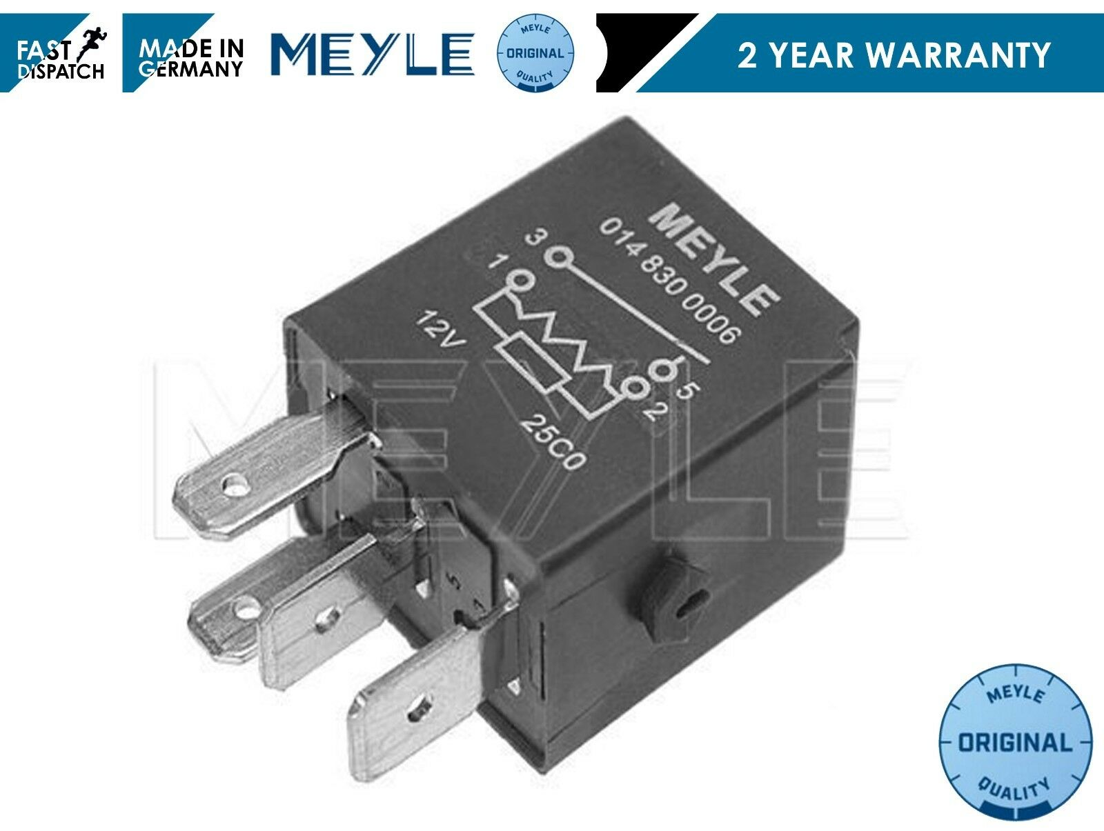 FOR Various Mercedes /& Smart models Meyle multipurpose Relay 12v 30A 30amps