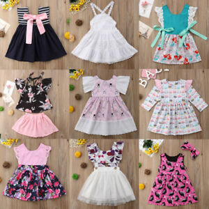 062aa5094731 Cute Toddler Baby Girls Princess Floral Tutu Tulle Party Dress ...