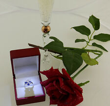 Ring 750 Gold Solitär Solitaire Zirkonia diamond Diamanten 0,80 ct +Saphir