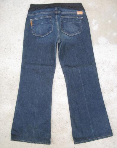 Jeans Paige Distressed Full Sz Leg Maternity Flare 30 Robertson Premium Dark OwHxR