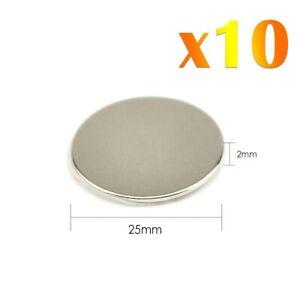 10x-Neodymium-Self-Adhesif-Fort-Rond-Magnet-Super-Craft-Disc-NdFeb-N42-Grade