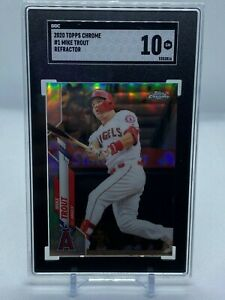 2020 Topps Chrome Mike Trout REFRACTOR SGC 10 GEM MINT!