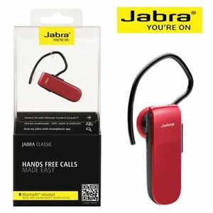 Jabra-Classic-Mono-Bluetooth-Headset-Red-for-iPhone-Andriod-Pickup-Available