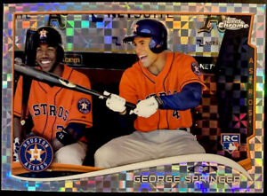 GEORGE SPRINGER RC 2014 Topps Chrome Refractor Rookie Card Xfractor 🔥 Blue Jays