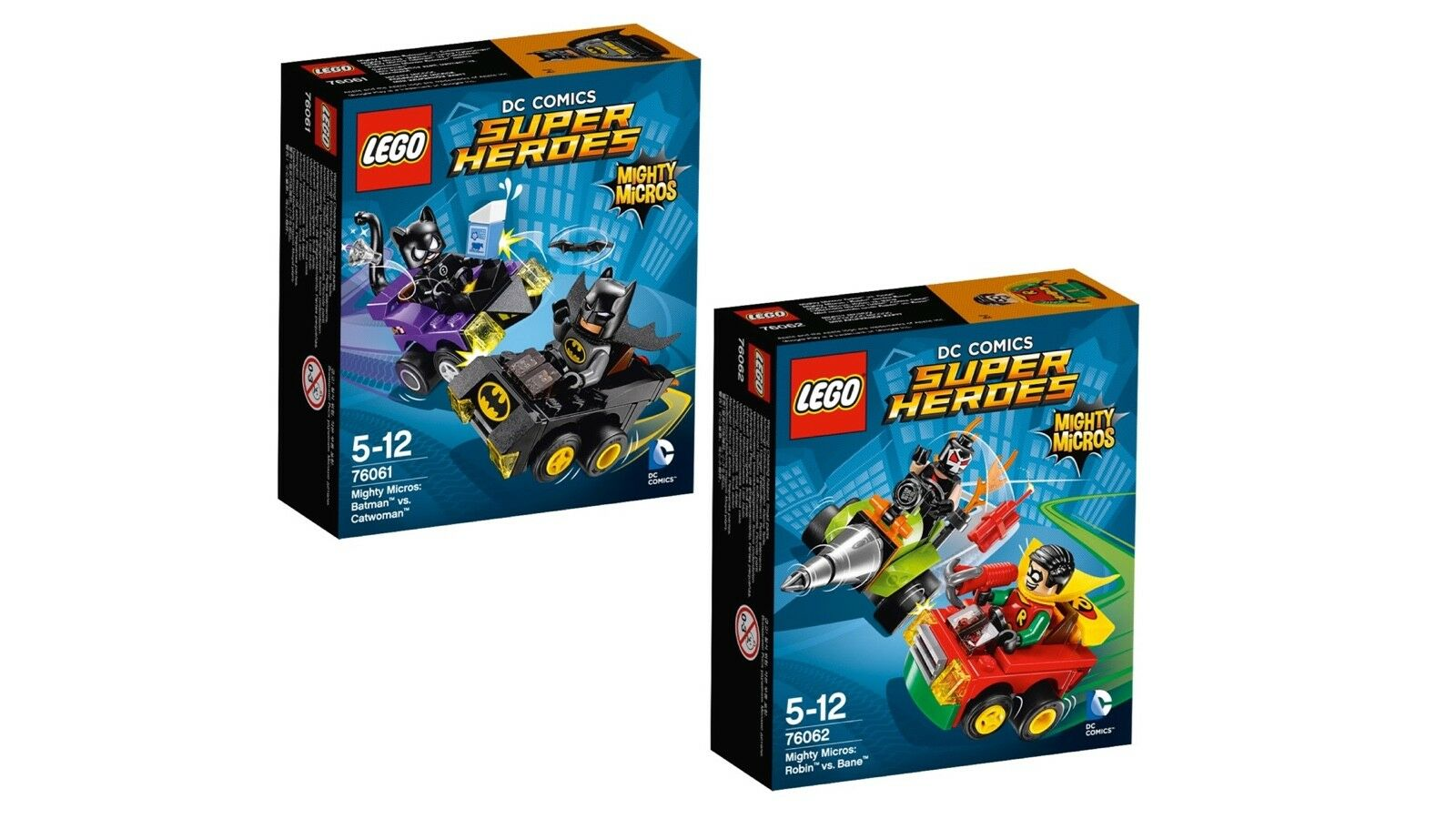 LEGO® DC Comics™ Super Heroes Mighty Micros Set 76061+76062 NEU OVP NEW MISB