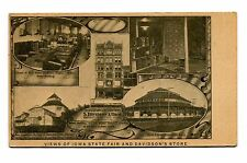 Vintage Postcard IOWA STATE FAIR & DAVIDSON STORE udb unused