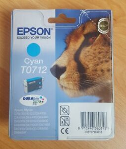 Genuine Epson T0712 Cyan Ink Cartridge