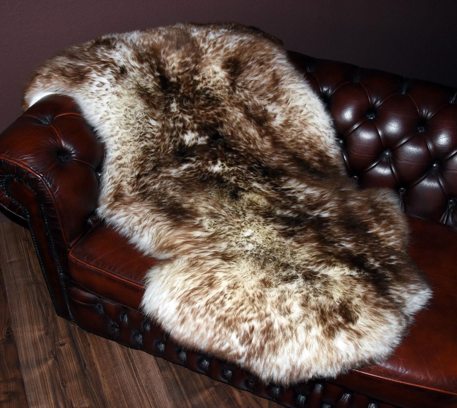 Riesen Schaffell Lammfell Fell Naturfell giant sheepskin rug geflammt 140x88cm
