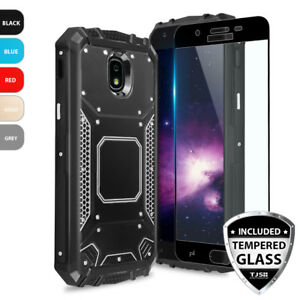 new product f2edf 6dd18 For Galaxy J3 Orbit/Star/V 2018 Metal Magnetic Support Case+Black ...