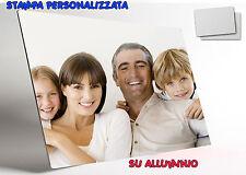 STAMPA SU ALLUMINIO PERSONALIZZATA QUADRO LUCIDO GLOSSY FOTO LOGO 100 x 150 MM