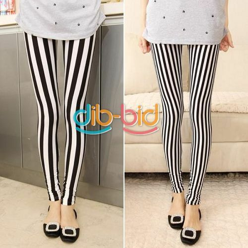 Hot Fashion Lovely Casual Women's Hip Pack Stripes Leggings Pants EDUS