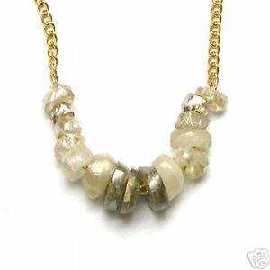 1-2 Carat Natural ROUGH DIAMOND JEWELRY Bead Necklace