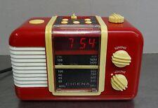 vintage alarm clock radio -  CICENA 10260 roter Radiowecker retro Wecker ~1980er
