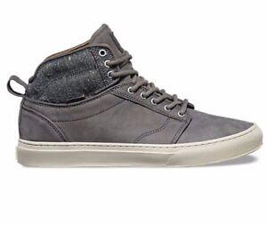 VANS Alomar (Tweed) Gray UltraCush Leather Skate Shoes MEN'S 11