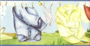 Wallpaper-Border-Clothesline-Laundry-with-Birds-and-Trees-Blue-with-Blue-Trim