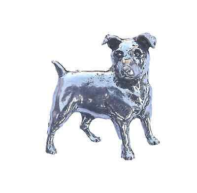 WIRE HAIRED TERRIER DOG Hand Made in UK Pewter Lapel Pin Badge