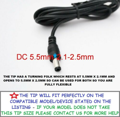 To Fit FJ-SW1202000B Swann DVR Box Power Adapter Charger Plug UK 12V 2A ACDC NEW