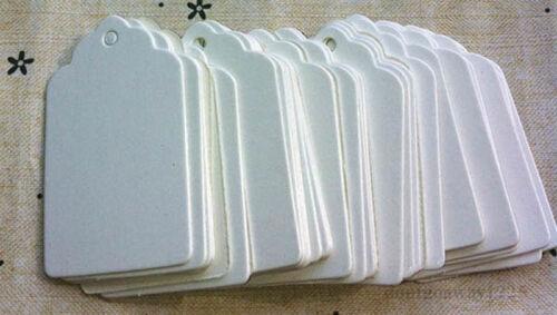 100Stk Etiketten Gift Anhänger Tags Geschenkanhänger Geschenkkarten Kraftpapier*