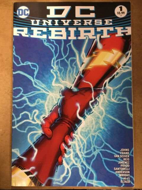 DC Universe Rebirth #1 2016 Midnight Release Variant Cover VF+//NM