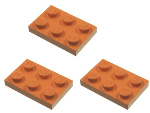 Missing lego brique 3021 orange x 3 plaque 2 x 3