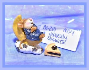 ❤️Wee Forest Folk M-210 Heavenly Slumber Navy Blue Sleeper Moon Retired Mouse❤️