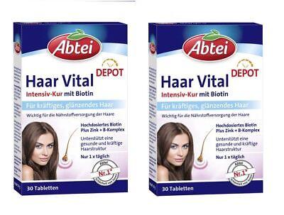 2x Pack Abtei Hair Vital Beauty Cure Depot Tablets With Zinc Biotin Germany Ebay