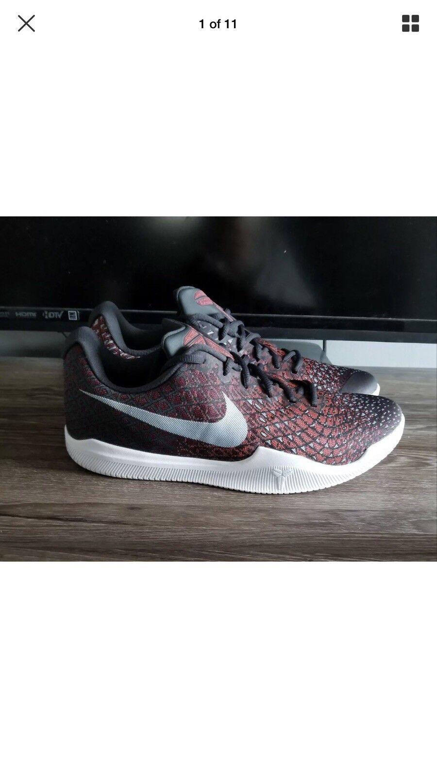 Nike Kobe Bryant Mamba Instinct Low Black Grey Red 852473-006 Mens Size 12