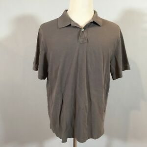 9e84a5a7 J. Crew Size XL Men Short Sleeve Polo Shirt Solid Gray Casual Top ...