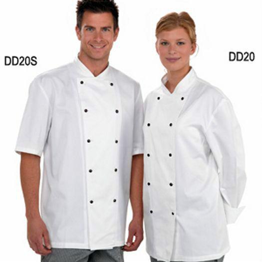 Denny's Ligero whiteo Chef Chaqueta Desmontable Tuercas