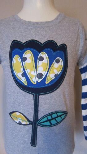 EX Mini Boden Retro Applique T-Shirt haut-âge 1-14 ans poire APPLE FLEUR