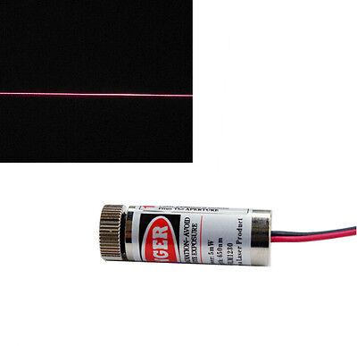 1x New 650nm 5mw Red Laser Line Metal Body Adjustable Laser Head good