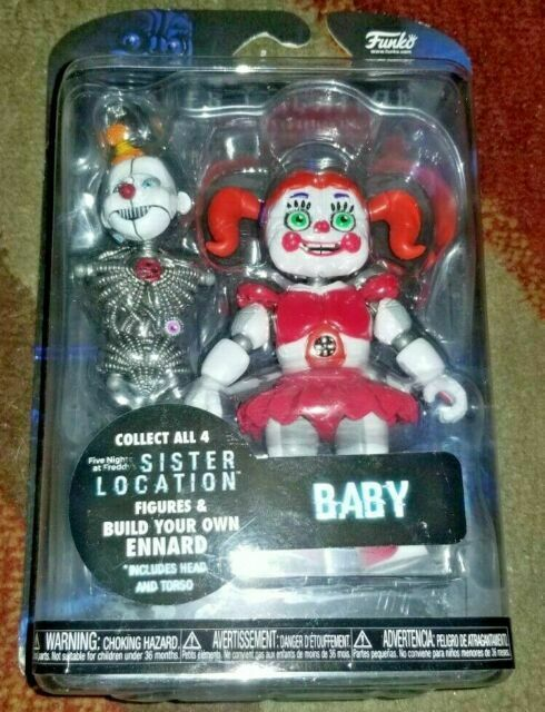 "FUNKO SISTER LOCATION SET OF 4 FUNTIME FOXY BABY BALLORA ENNARD 5/"" ACTION FIGURE"