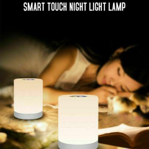 LED Nachttischlampe Touch Sensor Leseleuchte Dimmbar USB Tischlampe Sleep Light