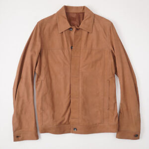 2e92306c7 NWT $2740 RICK OWENS Leather Worker Jacket in Henna Brown Eu 54 ...