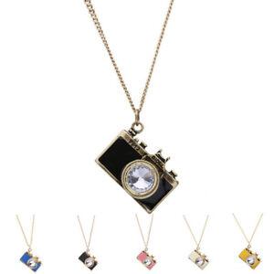 Fashion-Women-Retro-Camera-Pendant-Gold-Plated-Long-Chain-Necklace-Jewelry