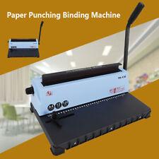 34 Square Hole Ring Binder Punching Spiral Coil Calendar Binding Machine Office