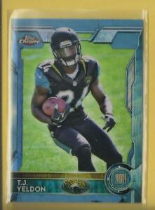 T-J-Yeldon-RC-2015-Topps-Chrome-BLUE-WAVE-REFRACTORS-Rookie-Card-138-Jaguars