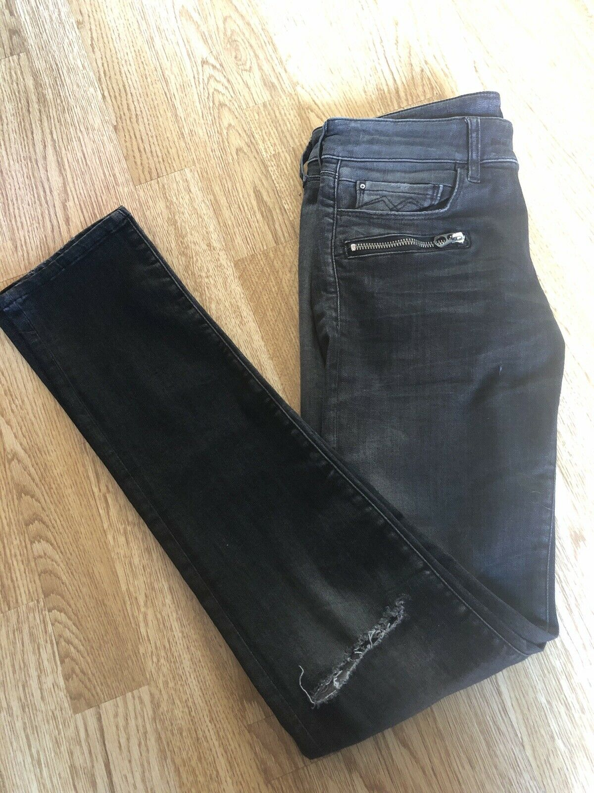 Replay Brigidot Skinny Ripped Jeans Dark Grey W28 L 32 - BNWT